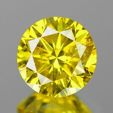 BUY CERTIFIED 0.0120 Cts. Yellow Color Round Cut Diamond Clarity-IF 1PC