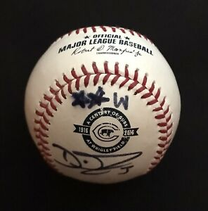2016 Chicago Cubs Wrigley Field 100th DAVID ROSS Autographed Rawlings Baseball