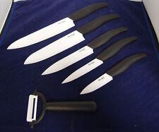 "6pc Ceramic Knife 7"" 6"" 5"" 4"" 3"" White Blade Peeler Set Kitchenware cutlery Chef"