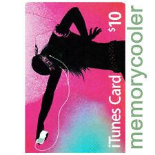 iTUNES $10 GIFT CERTIFICATE CARD Karte 10 USD APPLE iPhone iPod iPad Key Code US
