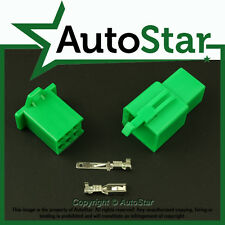 6 Way 2.8mm Mini Connector Kit GREEN Motorbike Honda Motorcycle Pin Connectors