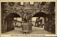 Kastell Saalburg Postkarte ~1920/30 Porta decumana mit Antonius Pius von aussen