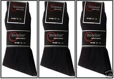 3 Pairs Mens BLACK Ribbed Formal Wear Quality Dress Socks Size: 9-11