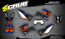 SCRUB KTM LC4 625 640 660 LC4 2006 - 2008 '05 - '08 Grafik Dekor-Set