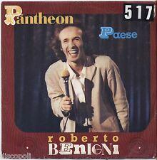 "ROBERTO BENIGNI - Pantheon / Paese - VINYL 7"" 45 LP 1980 VG+/VG- CONDITION"