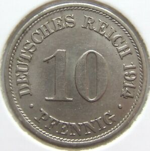 Top! 10 Pfennig 1914 G IN Extremely fine / Brillant uncirculated