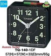 CASIO ALARM DESK CLOCK TQ-140-1D TQ140 12 MONTH WARANTY