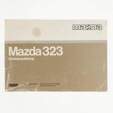 Mazda 323 Betriebsanleitung