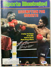 Roberto Duran Signed Sports Illustrated Magazine 6/27/83 Autographed PSA DNA COA