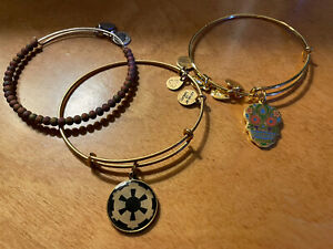 Alex and Ani. Charm Bangle Bracelets Lot Of 3 Star Wars Day Of Dead