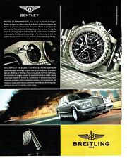 PUBLICITE ADVERTISING 027  2006  la montre Breitling   Bentley
