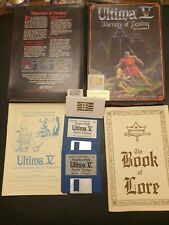 Retro/1990's PC DOS 3.5 FLOPPY Big Box game.  ULTIMA V WARRIORS OF DESTINY *VGC*
