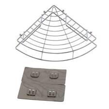Shower Corner Shelves Stainless Steel No Drilling Basket Gel Shelf Adhesive YD