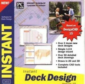 Instant Deck Design V15   Brand New   CAD Design  Easy to learn and use