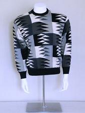 vtg 90s ABSTRACT darkwave colorblock mod vaporwave AVANT GARDE seapunk sweater L