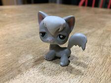 Littlest Pet Shop Grey And White Angora Cat #345 Authentic Lps