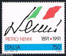 ITALIA 1 FRANCOBOLLO PIETRO NENNI POLITICO 1991 nuovo**