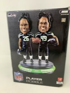 Shaquill & Shaquem Griffin Player Bobble Dual Bobblehead Seattle Seahawks Rare