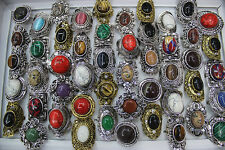 Wholesale Jewelry Mixed Lots 45pcs Charm Natural Stone Alloy Lady's Rings EH352