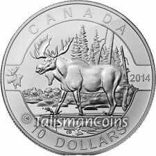 Canada 2014 Oh! Canada Series #04 - Majestic Moose $10 Pure Silver Matte Proof