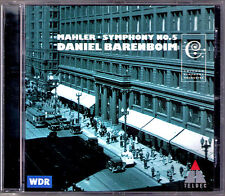 Daniel Barenboim: Mahler Filarmonica n. 5 Chicago Symphony Orchestra Teldec LIVE CD
