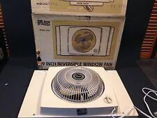 Vintage Galaxy Window Fan w/box 2 speed Reversible Works Great Model 2122 9W
