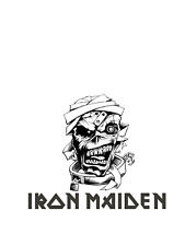 "'IRON MAIDEN' BAND Size 23""H Vinyl Sticker Decal Track  Car  Home"