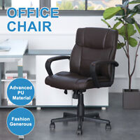 Office Chair High Back Ergonomic Executive Computer Desk Task Chair PU Leather