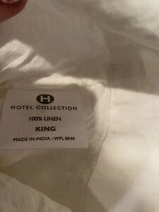 Hotel Collection 2 King Pillowcases - Linen White