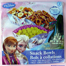3 Pcs DISNEY FROZEN SNACK BOWLS BIRTHDAY PARTY SNACK BOXES GIRLS  ELSA ANNA