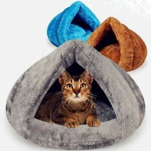 Cat Bed Sleeping Bag Mat For Dogs Cats Pets Winter Warm Soft Nest Kennel Cave