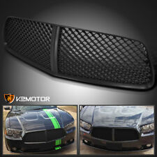 2011-2014 Dodge Charger Black Front Bumper Mesh Hood Grill Honeycomb Grille