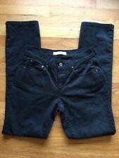LEVI'S 505 STRAIGHT LEG BLACK Jeans - Size 2 Medium - W28, L30.5, Rise 8.5