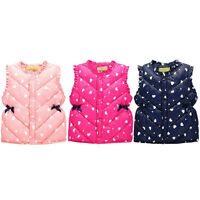 EG_ Toddler Kids Girls Clothes Winter Sleeveless Jacket Vest Casual Waistcoat Co