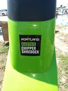 Electric 1.5 in Wood Chipper/Shredder 14 Amp Motor W/ Safety Hooper Locking Knob