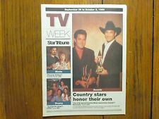 Sept. 26, 1993 Minneapolis Star Tribune TV Week Magazine(CLINT  BLACK/VINCE GILL
