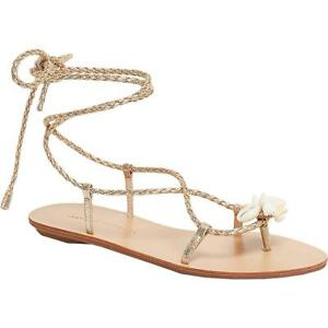 Loeffler Randall Womens Shelly Leather Strappy Flat Sandals Shoes BHFO 0180