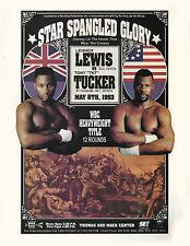 LENNOX LEWIS vs TONY TUCKER 8X10 PHOTO BOXING POSTER PICTURE