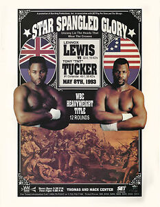 LENNOX LEWIS vs TONY TUCKER 8X10 PHOTO BOXING POSTER PICTURE