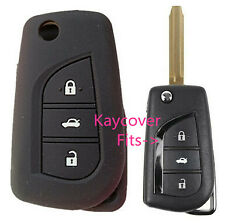 BLACK SILICONE CAR KEY COVER for TOYOTA CAMRY COROLLA SPORT 2013 2014 ASCENT