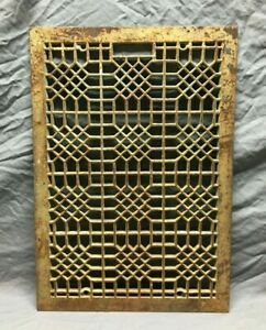 VTG Decorative 18x27 Cast Iron Vent Grill Cold Air Return Grate Gold Old 947-21B