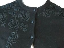 Vtg Bergdorf Goodman Cashmere Embroidered Sweater Cardigan On The Plaza Small q