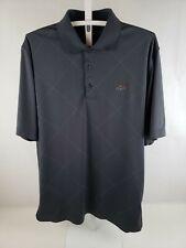 EUC Greg Norman Men's Polo Shirt L/XL Gray Golf Clothing Style Tasso Ella