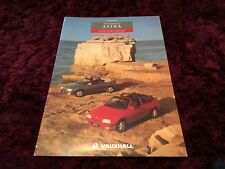 Vauxhall Astra Convertible UK Brochure 1993 - Mk1