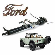 """Ford Bronco 1966-77 Keyed Black Tilt Steering Column 33"""" i6 custom xlt t18 Dana"""