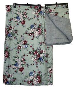 Cottage King Size King Pillow Bed Case Set Cover Floral Multicolor