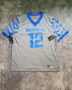 Men's Nike NCAA Memphis Tigers Untouchable Football Game Jersey No #12 Gray