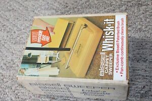 New in box Vintage Retro Yellow Bissell Supreme Carpet Sweeper 2331 bright gold