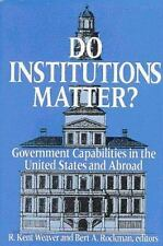 Do Institutions Matter?: Government Capabilities in the United States-ExLibrary