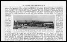 1911 Antique Print - MILITARY Gun Weapon Defences Panama Canal  (52)